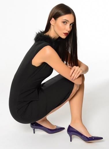 Nine West İnce Kısa Topuklu Stiletto Ayakkabı Mor